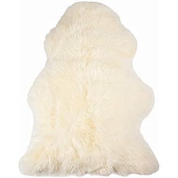 Amazon Com Genuine Bowron Sheepskin Rug Single Pelt Ivory