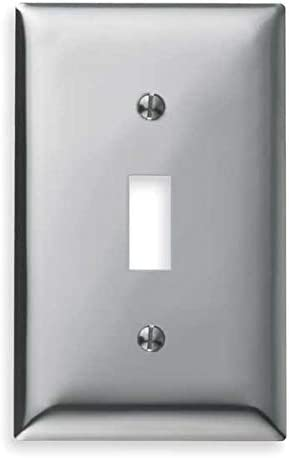 Toggle Switch Wall Plate 1 Gang Silver Switch Plates Amazon Com