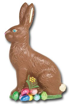 (Chocolate Bunny Die Cut Blank Card by Paper House Productions )