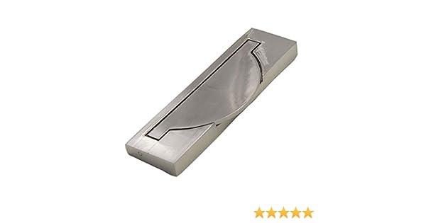 KFZ HAO3143 tirador de puerta corredera empotrado, tirador empotrado, pomos de puerta ocultos deslizantes, equipo de armario de muebles, plateado cepillado 3.78