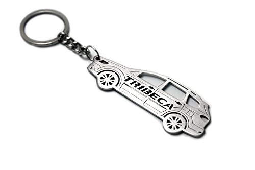 Tribeca Collection Pendant (Keychain With Ring For Subaru Tribeca Steel Key Pendant Chain Automobile Gift Car Design Accessories Laser Cut Home Key)