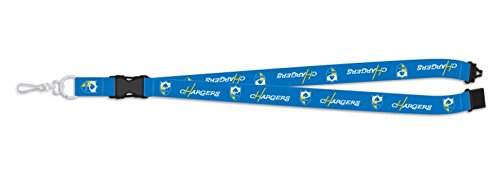 (Pro Specialties Group Los Angeles Chargers THROWBACK RETRO Deluxe 2-sided Lanyard Breakaway Football)