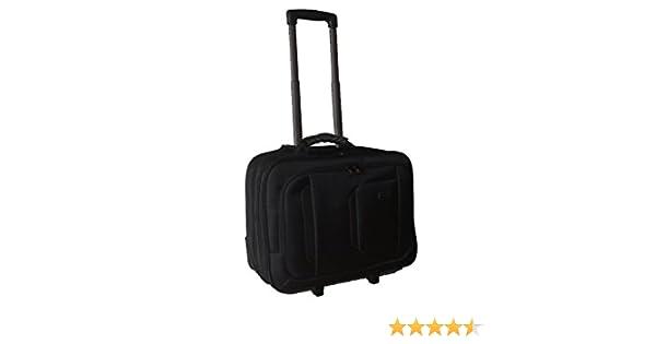 Maleta para ordenador Maletín portátil iPad equipaje de mano con ruedas (506 Negro): Amazon.es: Electrónica