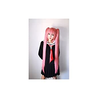 Hidan no Aria Cosplay Costumes Wig Long Wigs Costume with Wig Cap Deep pink