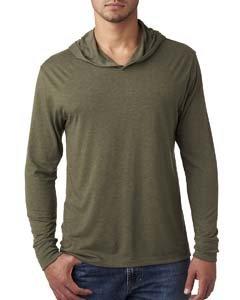 Bodek And Rhodes 67445224 6021 Next Level Unisex Tri-Blend Long-Sleeve Hoody Military Green - Medium by Next Level
