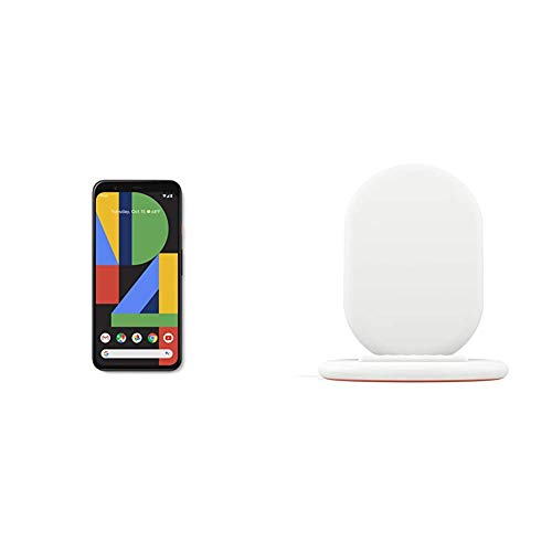 Google Pixel 4, Just Black, 64GB Unlocked Cell Phone Bundled with Google Pixel Stand Fast Wireless Charger