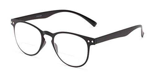 Readers.com The Chatham Flexible Bifocal +1.75 Black Bendable Oversized Bifocal Round Reading - Round Oversized Readers