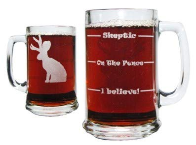 Jackalope Drink 'Till You Believe 15oz. Beer Mug with, used for sale  Delivered anywhere in USA