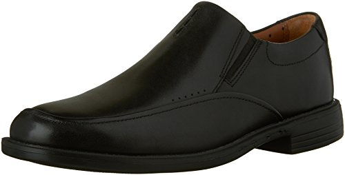 Clarks Unbizley Lane Mens Black Leather Casual Dress Slip On Oxfords Shoes 11