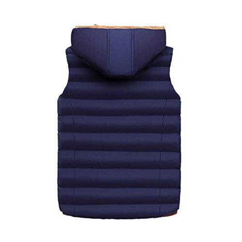 Lightblue DYLBD Stylish Down Wild Vest Warm Autumn Zipper Winter Men's and ZwFZBvq