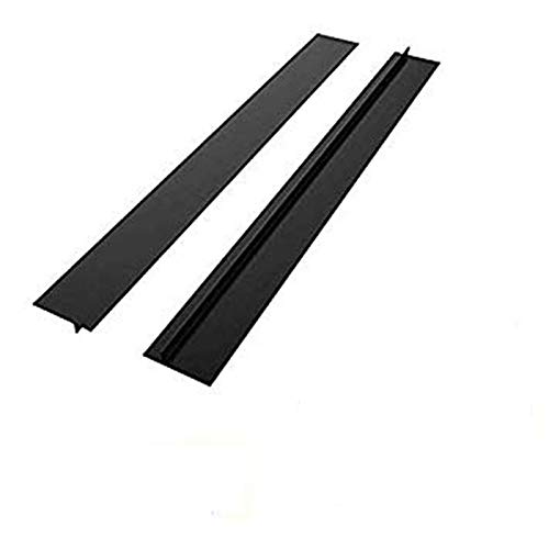 Kitchen Silicone Stove Counter Gap Cover, Easy Clean Heat Resistant Gap Filler, Seals Spills Between Washing Machines, Oven, Washer, Dryer Pack of 2 (Black) GOMAOMI