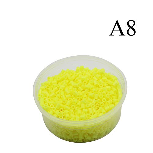 Canutillos Mini Beads 2.6mm (2000 Unidades) amarillo fluor