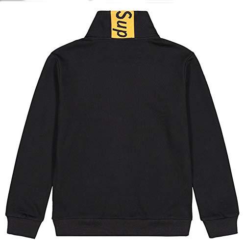 Redondo Para Hombre Negro Con Suéter Algodón Cuello De EqSz6