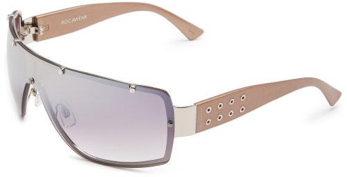 Rocawear Men's R1130 SLV Shield Sunglasses,Silver Frame/Gradient Smoke Lens,one - Rocawear Glasses