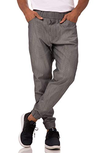 Chef Works Men's Jogger 257 Chef Pants, Black & White Stripe, Small from Chef Works