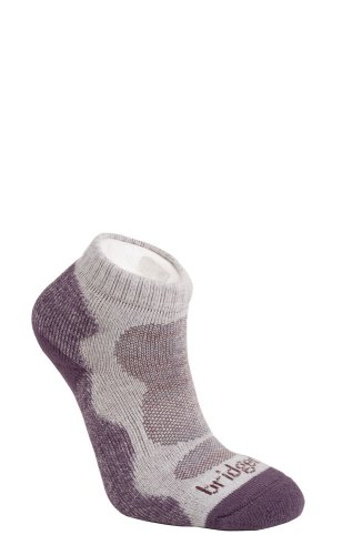 Bridgedale Women's Lo Socks,Natural Aubergine,Small