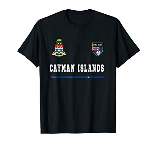 (Cayman Islands T-shirt Sport/Soccer Jersey Tee Flag Football)