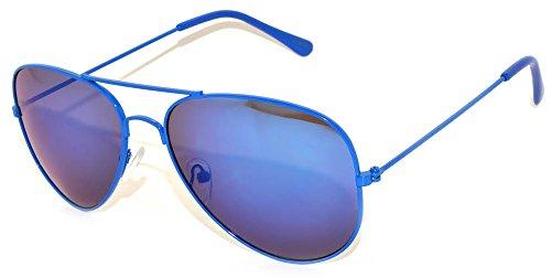 Aviator Sunglasses (Blue Frame Blue lens) - Sunglasses Frame Blue