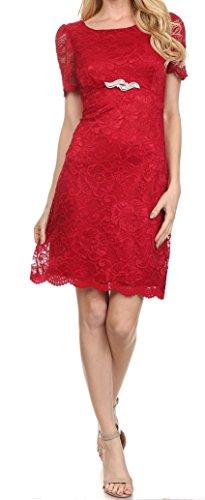 Belle Maids Short Lace Formal Gown 1170BM