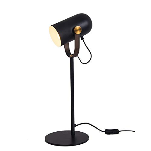 LLIND Home Nordic Creative Leather Wrought Iron Table lamp Personality Small Bedroom Bedside lamp led Eye Protection Desk lamp Desk lamp ()