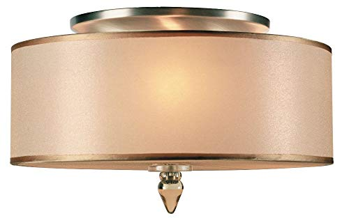 Crystorama 9503-AB Transitional Three Light Ceiling Mounts from Luxo collection in Brass-Antiquefinish, - Light Chandelier Crystorama Lighting