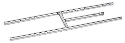American Fire Glass SS-H-24 Stainless Steel H-Style Burner - Natural Gas, 24