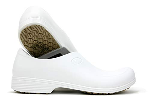 Work Shoes for Men - Waterproof Slip Resistant - StickyPRO Shoes (10.5, White) (Best Shoes To Wear In The Operating Room)