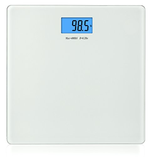 BalanceFrom Basic High Accuracy Digital Bathroom Scale with Backlit Display & Step-On Technology
