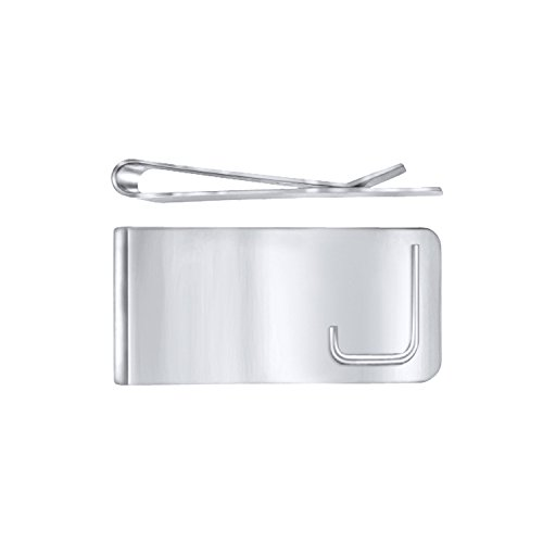 Men Initial Engraved Personalized Custom Silver Money Clip Perfect Gift - J ()
