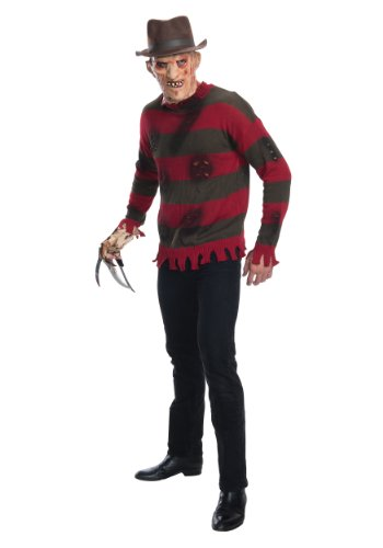 Rubie's Men's Nightmare On Elm St Deluxe Adult Freddy Sweater, Multicolor, X-Small