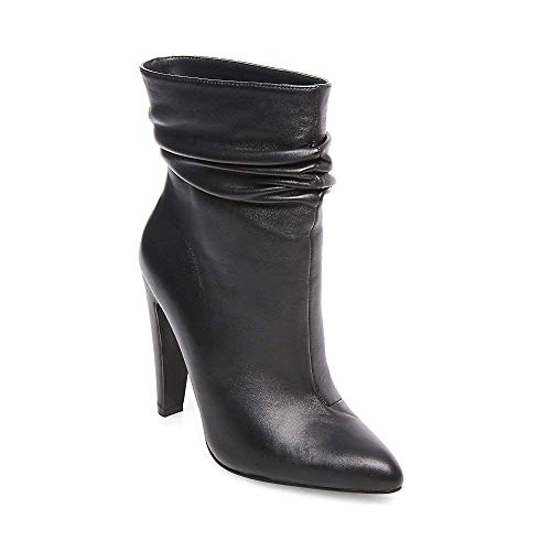 Calysta Black Bootie Madden Steve 10 Us Leather Women's Dress gxEtwp