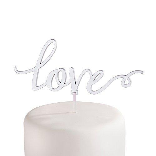 Kate-Aspen-18125NA-Silver-Mirror-Love-Cake-Topper