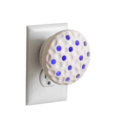 (Airomé Wall Pluggable Aromatherapy Essential Oil Diffuser with LED Night Light, Pebble)