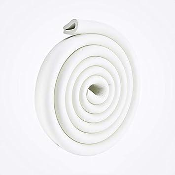 2m U-Form Glastisch Kantenschutz Eckenschutz Tischkante Kissen Besch/ützer Baby Schutz aus weichem Schaumstoff Beige 200X35X8MM