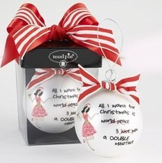 """All I Want For Christmas"" Ornament by Mud Pie"