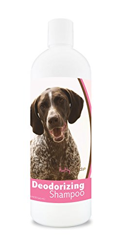 (Healthy Breeds Dog Deodorizing Shampoo For German Shorthaired Pointer - Over 200 Breeds - For Itchy Sensitive Dry Flaking Scaling Skin & Coat - Hypoallergenic Formula & Ph Balanced - 16 Oz)