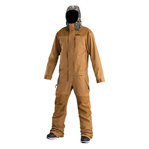 d293d9e687 AIRBLASTER Men's Shell Outerwear One Piece Freedom Suit, Orange Grizzly  Dino, X-Large