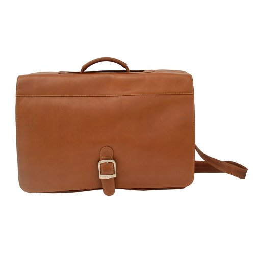 (Piel Leather Executive Briefcase, Saddle, One Size)