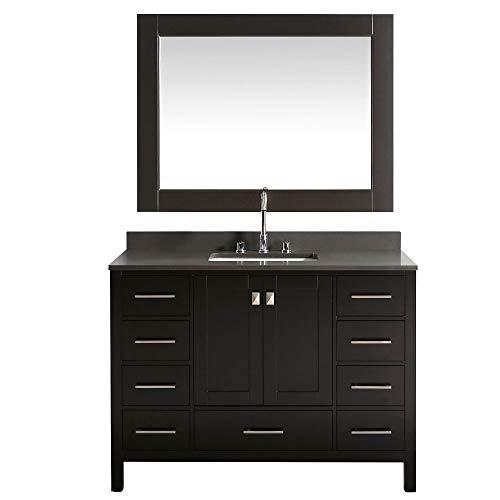 Single Espresso Basin Vanity (Design Element London 48