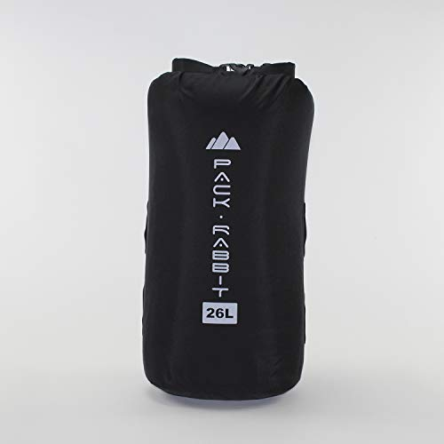 Pack Rabbit Dry Bag | Weatherproof, Durable, PVC-Free | Stacks on External Frame (Black, 26 Liter)