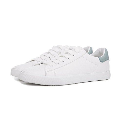 de de las de Color moda simples de Tamaño Zapatos mujeres casual skate ocio deporte Azul del los respirable Zapatos 37 de Zapatos encaje de Gris estudiantes O0Iqw