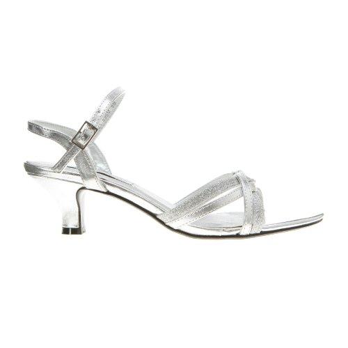 Women's Strap Melanie Ankle Ups Sandal Glitter Silver Touch zIq5Ow