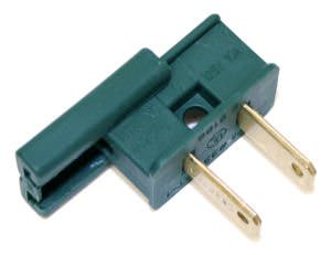 Action Lighting 00105 - Green Male Polarized 7 Amp Zip Wire Plug (12 pack) for Christmas - Plug Wir