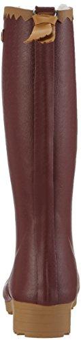 Aigle Victorine Fur, Botas de caña alta de goma forradas mujer Rojo - Rot (Griotte 8)