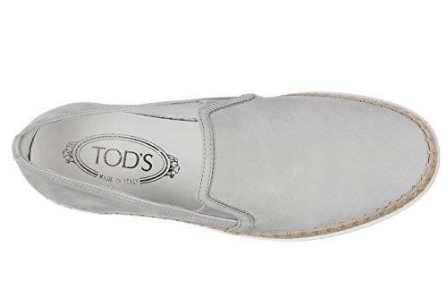 Tods Kvinna Läder Slip På Sneakers Grå