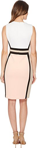 Block Nectar Calvin Color Multi Sleeveless White Nectar Women's Sheath Klein Dress Khaki Black wvvq6I
