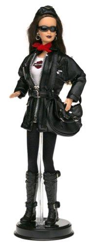 (Harley-Davidson Barbie #3 Brunette Barbie Doll Motorcycle)