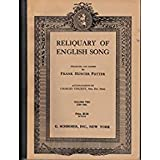 img - for Reliquary of English Song, Volume One (1250-1700) book / textbook / text book