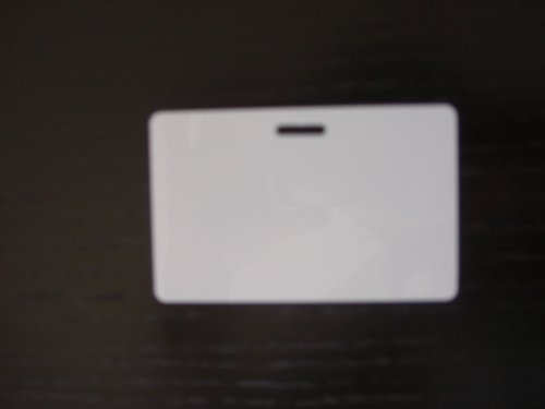 100 Blank PVC Plastic Photo ID Horizontal Slot Punch Card (Blank White Pvc Cards)