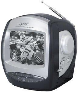 "GPX TV-524 5"" B/w Tv with Am/fm Radio"